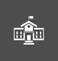 Building school icon on a dark background vector