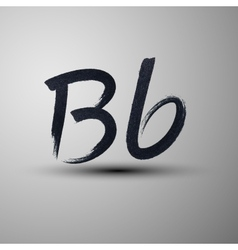 calligraphic hand-drawn marker or ink letter B vector image
