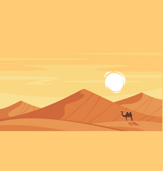 cartoon style background with hot desert vector image vector image