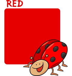 Color Red and Ladybug Cartoon vector image vector image