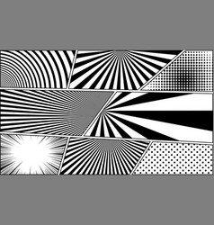 comic book monochrome blank backgrounds set vector image vector image