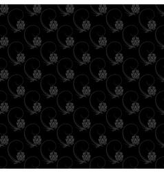 Dark floral nature seamless pattern design vector image vector image