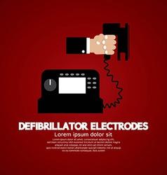 Defibrillator electrodes medical equipment vector