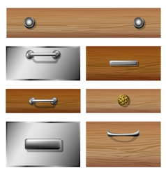 Drawer front set vector image