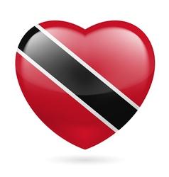 Heart icon of trinidad and tobago vector