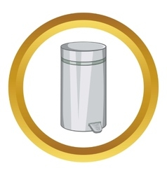 Home trash icon vector