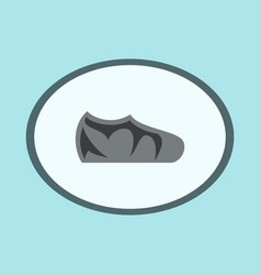 Icon in flat design fashion footwear sport shoes vector