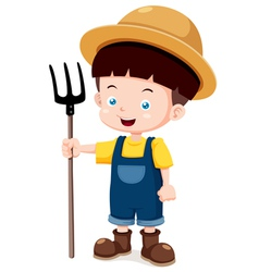 Little farmer vector image