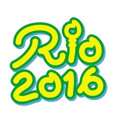 Logo symbol brazil 2016 rio de janeiro for olympic vector