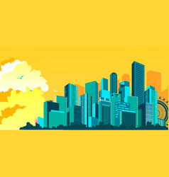 metropolis abstract city vector image