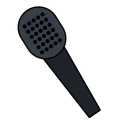 microphone music isolated icon vector image