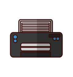 Modern printer technology vector