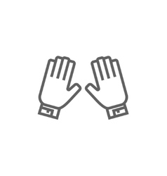 Motorcycle gloves line icon vector