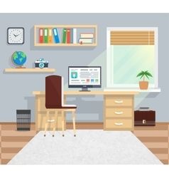 Office in minimalistic style and color workflow vector