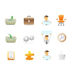 Office stuffs icons vector image vector image