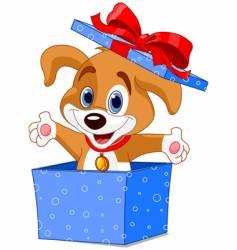 puppy box vector image vector image
