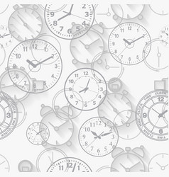 seamless pattern composed of images hours vector image vector image