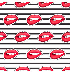 sexy female lip isolated character in cartoon vector image vector image