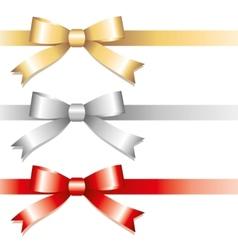 three bows vector image vector image