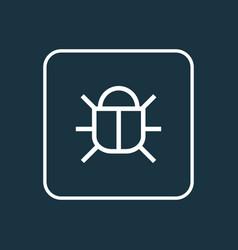virus outline symbol premium quality isolated bug vector image