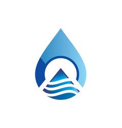Water drop technology abstract logo vector