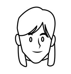 Woman face smiling cartoon vector