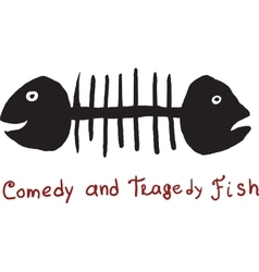 Fish comedy and tragedy vector