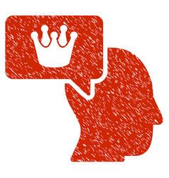 person dream crown icon grunge watermark vector image