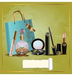 Cosmetics gift set vector