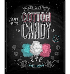 Cotton candy chalk vector