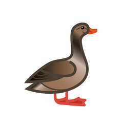 Goose drawn side view vector