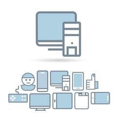 Internet technologies icon set vector