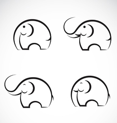 Set of elephant icons vector