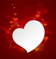 Crooked heart vector image