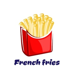 Cartoon french fries in red box vector
