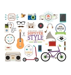 Hipster infographics elements and labels vector