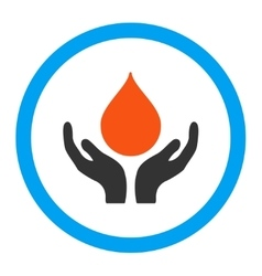 Blood donation rounded icon vector