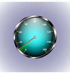 Speedometer shows ten speed vector
