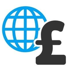 Global pound economics flat icon symbol vector
