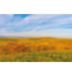 Autumn blurred bacground vector image vector image