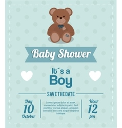 Baby shower design teddy bear icon vector