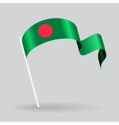 Bangladeshi wavy flag vector image vector image