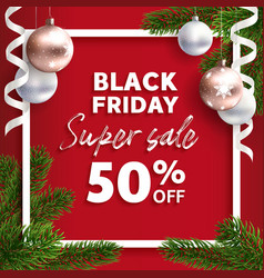 banner black friday sale flyer template vector image vector image