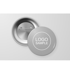 Blank button badge vector