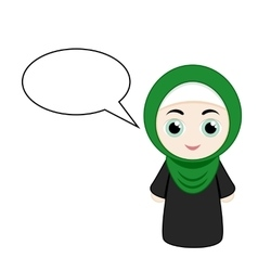 Cartoon girl with hijab vector