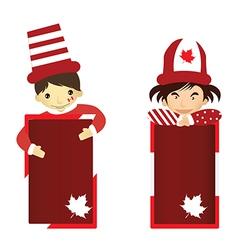 Cartoon of Kid Canada Day vector image vector image