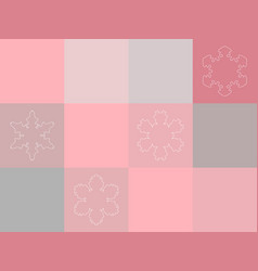 Christmas pink and grey mosaic seamless pattern vector