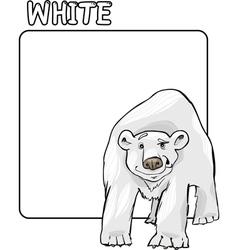Color White and Polar Bear Cartoon vector image vector image
