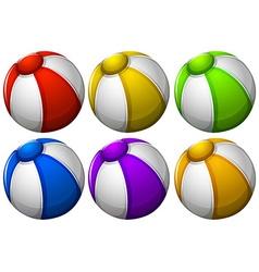 Colourful beachballs vector