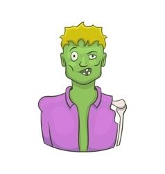 Halloween zombie icon cartoon style vector image